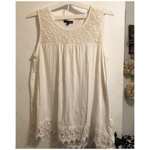 Tank blouse with Lace